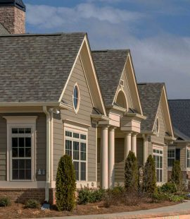 Homes with new roofs from roofing companies in Panama City Beach, FL