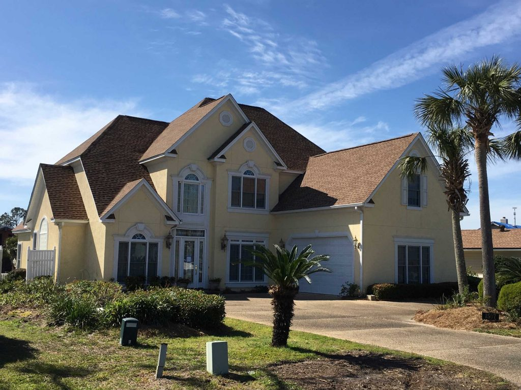 Roof on a large luxury home in Panama City, FL