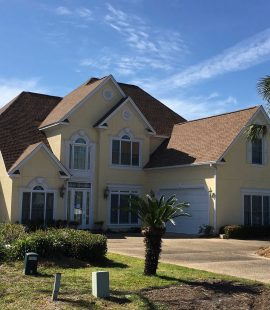 Roof on a very large luxury home in Panama City, FL.