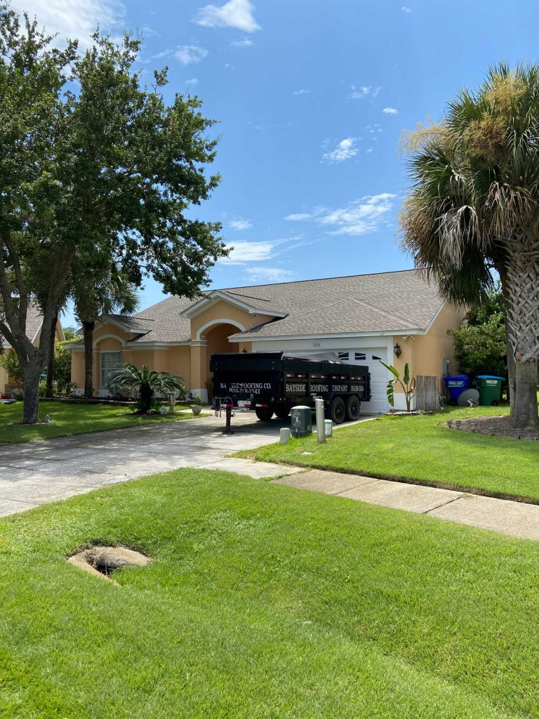 Recently completed asphalt roof in PCB