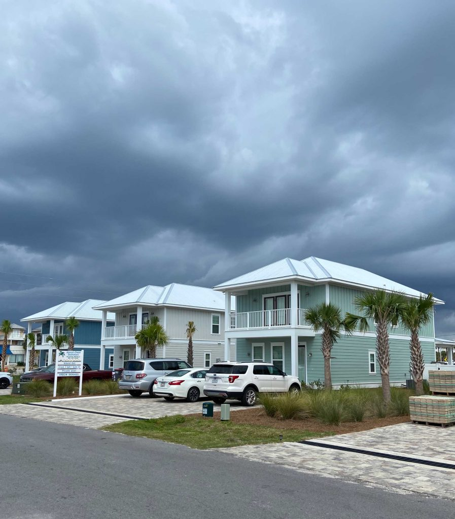 New construction metal roofs on vacation rentals in Panama City Beach, FL