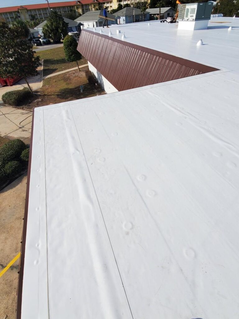 A new commercial roof in Panama City Beach, Florida
